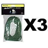 Nite Ize Reflective Rope Pack 50' Safety Tent Cord for Hiking Boating (3-Pack)