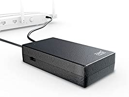 Zinq Technologies 12V 2A UPS for Router, Intercom, CCTV, Set-top Box with Upto 4 Hours Power Backup ZQ-6600 (Black)