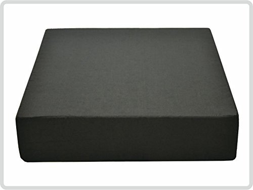Pflegehome24® Sitzerhöhung Stuhlerhöhung Sitzkissen Bodenkissen 40 x 40 x 10cm, schwarz