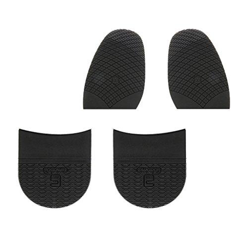 Hellery 2 Pares/Set De Goma Medias Suelas Grifos Y Almohadilla De Talón Antideslizante Reparación De Calzado Suministros