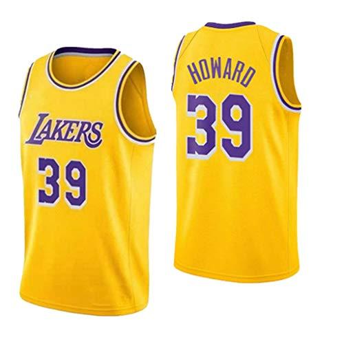 Jerseys de Baloncesto para Hombre Lakers 39 Dwight Howard Warcraft Howard Jerseys de la NBA Chalecos Tops Camisetas Deportivas sin Mangas S-XXL