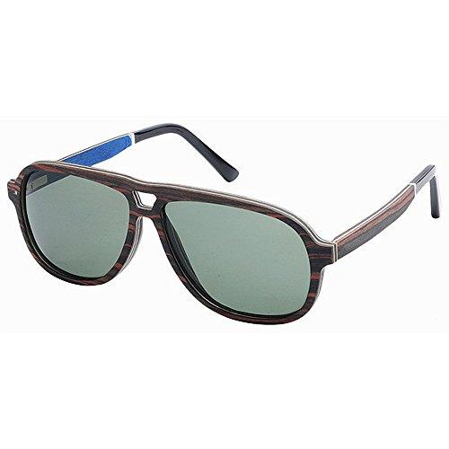GZW001 Gafas de Sol de Madera Retro Vintage Designer Wayfarer Aviator Gafas de Sol Deportivas al Aire Libre UV400
