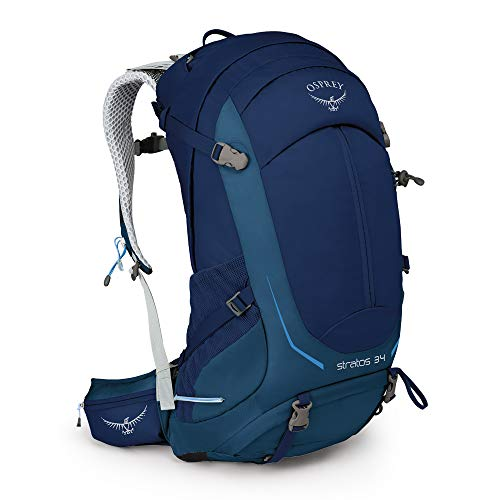 Osprey Packs Stratos 34 Hiking Backpack, Eclipse Blue, Medium/Large