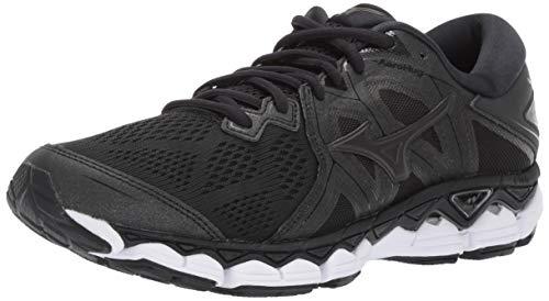 Mizuno Men's Wave Sky 2 Running Shoe, Black, 8 D US