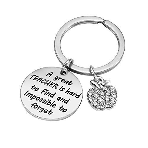 Teacher Appreciation Gift for Women - Teacher Keychain Teacher Jewelry Teacher Gifts,Thank You Gifts for Teacher, Christmas Gifts for Teacher Valentine's Day Gift Photo #3