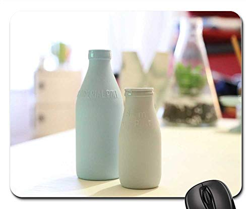 Mouse Pad - Bottle Milk Drink Beverage Cereal Blogging Stock