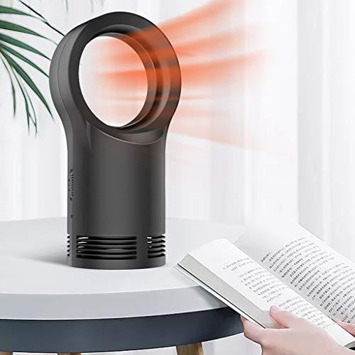 Usb Fan Promotion, Ventilateur électrique sans feuilles Accueil Bureau Chauffage sans lame Space Air Warmer Fan Fans Noir