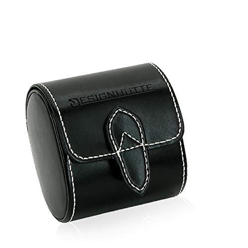 DESIGNHÜTTE® Uhrenbox/Uhrenaufbewahrung/Reisebox Solid 1 Schwarz für 1 Armbanduhr