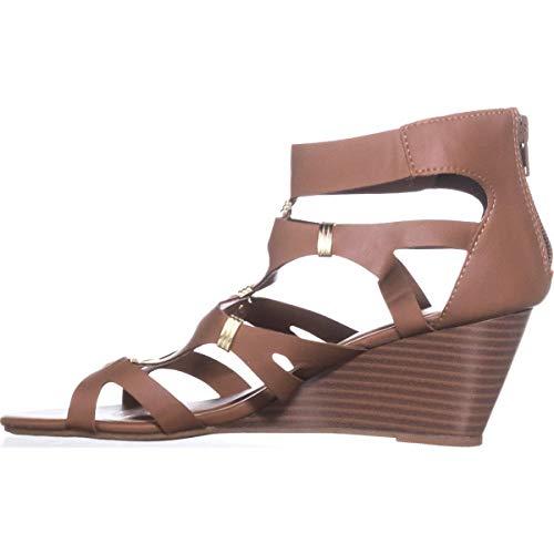 XOXO Womens Belinda Platform Dress Sandals Leather Peep Toe Tan