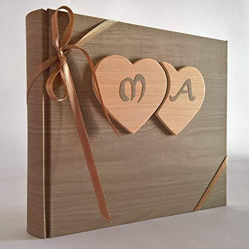 Album fotografico innamorati carta effetto legno chiaro...