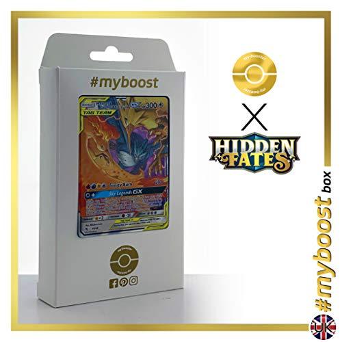 Moltres & Zapdos & Articuno-GX (Sulfura, Electhor et Articodin-GX) 44/68 - #myboost X Sun & Moon 11.5 Hidden Fates - Coffret de 10 Cartes Pokémon Aglaises