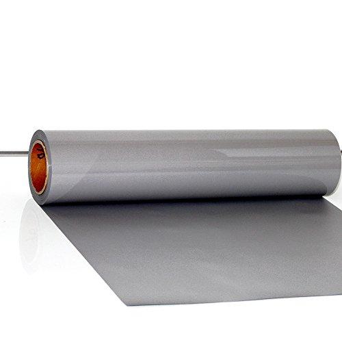 Transfer de vinilo para textiles, de Hoho, con transferencia de calor, camisetas, para manualidades, 50 x 50cm 30CMX50CM gris