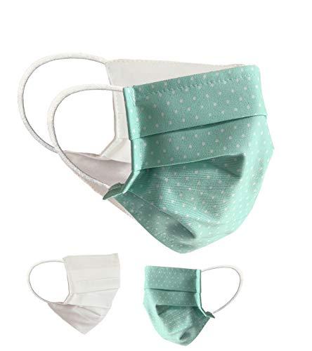 BaF Community Masken Teenager Jugendliche 2er Pack Set Unisex Behelfsmaske Wendbar Mundschutz Maske Mund- und Nasenschutz Wendemaske Motiv Baumwolle BCI Waschbar 14cm breit
