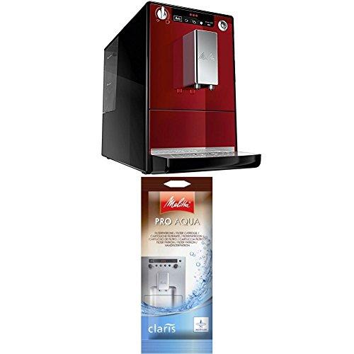 Melitta Caffeo Solo E950-104 Schlanker Kaffeevollautomat mit Vorbrühfunktion / 15 Bar / LED-Display / höhenverstellbarer + Melitta 192830 Filterpatrone für Kaffeevollautomaten, 1 Patrone
