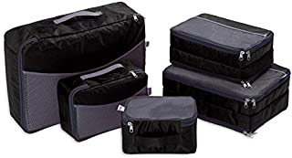 Travel Luggage Organizer–Ufine(2018) Double Sided Carryon Lightweight Luggage Bag Organizers for Women Men and Kids Including 5set Heavy Duty Packing Cubes