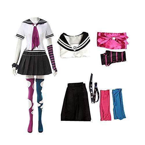 Super Danganronpa 2 Ibuki Mioda Cosplay Costume Full Set (S, Ibuki Mioda Cosplay Costume)