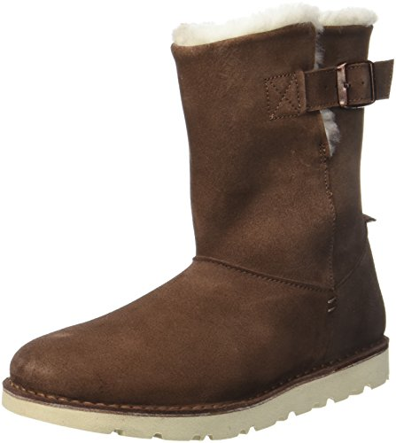 BIRKENSTOCK Shoes Damen Westford Stiefel, Braun (Espresso Lammfell), 37 EU