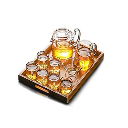 YSYDE Glazen Theepot Set, Hoog Borosilicaat Glas, Upgrade Dikke Koudbestendige, Hittebestendige Glazen Theeset, is Een Wasbare Pot Met Verwijderbaar, Voor Gemakkelijk Ontkalken Gezondheid