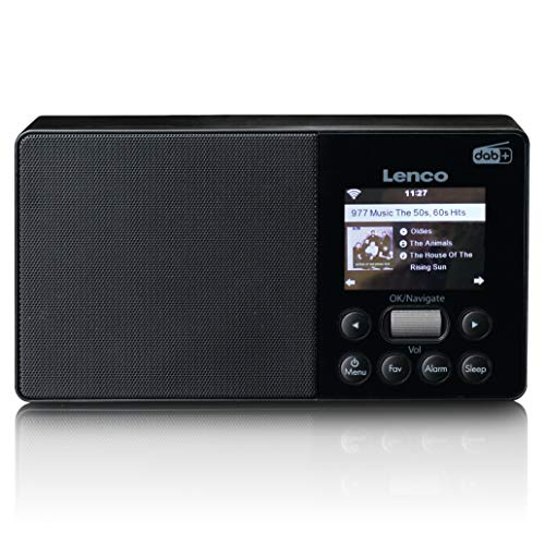 "Lenco PIR-510 tragbares Internetradio - DAB+ und FM Radio - Spotify Connect - WLAN - USB Player und Lader - 2,4"" TFT LCD - 2 Watt RMS - integrierter Akku mit 2200 mAh - 3,5mm Anschluss - schwarz"