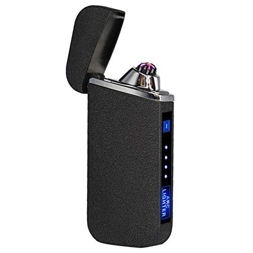 Encendedor Encendedor electrónico de Doble Arco Encendedor USB LED Encendedor eléctrico Recargable sin Llama a Prueba de Viento de Plasma Interruptor del Tacto Encendedor de Cigarrillos cigarro Bueno