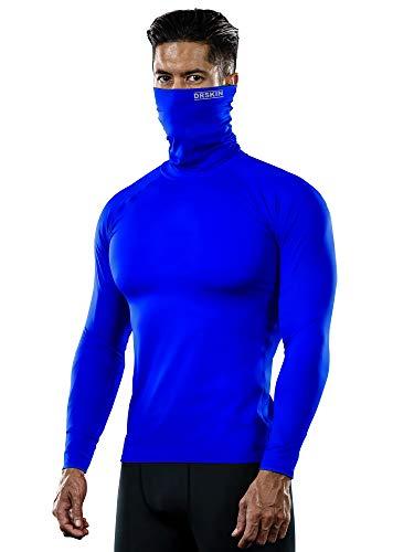 DRSKIN MASK Turtleneck Compression Shirts Top Dry Sports Baselayer Running Long Sleeve Thermal Cold Men (Turtleneck SBU06, M)