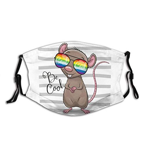 Máscara facial de ratas con gafas de sol, lavable, reutilizables, con 2 filtros, para hombres y mujeres al aire libre