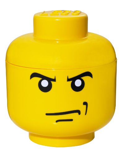 LEGO Tête de Rangement Petit, Visage, Angry Birds Jaune