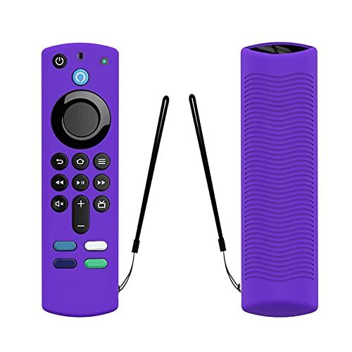 Welltobuy Schutzhülle für Alexa Sprachfernbedienung (3. Generation), 2021 Anti-Drop Weiche Silikonhülle Fire Stick TV mit Anti-Verlust-Gurt, Leicht/Stoßfest