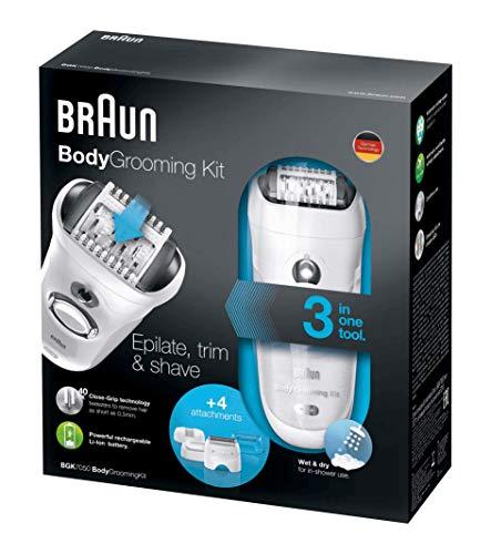 Braun BGK 7050 - Depiladora masculina, kit de depilación corporal para hombre, color blanco