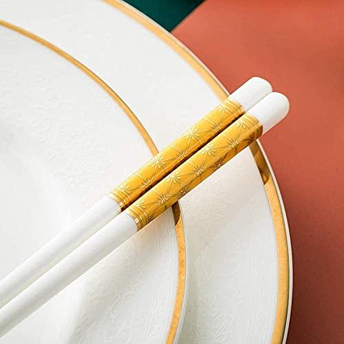 Set de Regalo de Palillos Chinos de Palillos De Cerámica Reutilizables, 6 Pares De Hueso Chino China China Chopsticks Conjunto De Regalo, Palillos Aptos Para Lavavajillas, Adecuadas Para Comida Asiáti