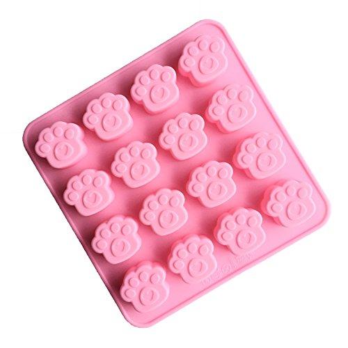 JasCherry Silikon Backform für Schokolade, Cupcakes, Kuchen, Muffinform für Muffins, Pudding, Eiswürfel und Gelee - Animal Serie (Pfote)