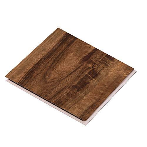 "Cali Bamboo - Cali Vinyl Pro Commercial Vinyl Flooring, Extra Wide, Walnut Creek - Dark Hand Scraped Wood Grain - Sample Size 6"" L x 7 1/8"" W x 5.5mm H"