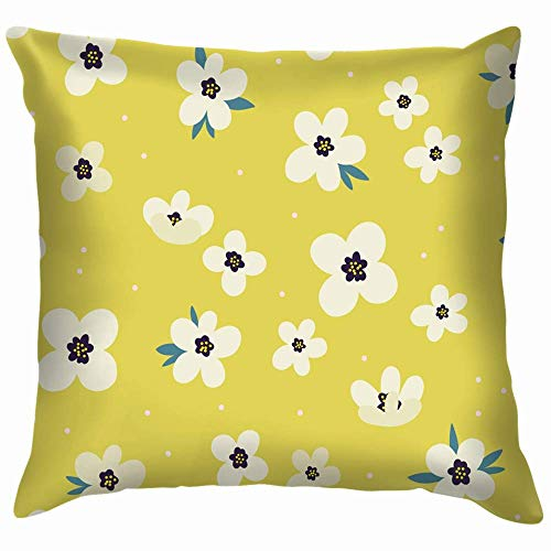 Moily Fayshow Small Flowers Cute Flower Pillow Case Throw Pillow Cover Square Cushion Cover 55X55 Cm