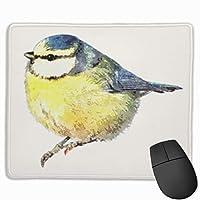 可愛い鳥 ロゴ む マウスパッド ゲーミング オフィス最適 防水 耐久性が良い 滑り止めゴム底 マウスの精密度を上がる 25x30cm