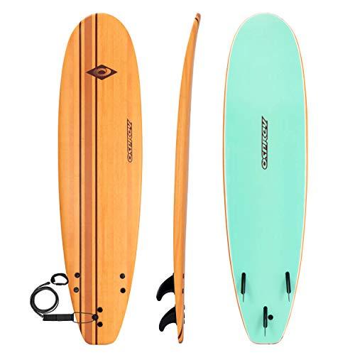 Osprey Pinstripe - Tabla de Surf de Espuma Suave con Correa y Aletas, Sellado al vacío, Efecto Madera, 1,5 m, 1,8 m, 2,4 m, 2,7 m, Unisex Adulto, SU0041, Rayas, 7.2ft