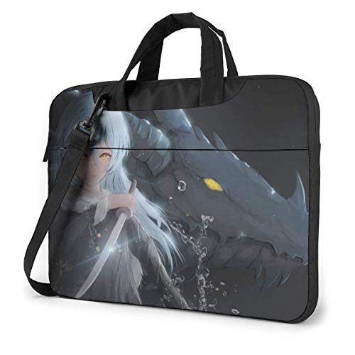 HFHY 14 inch Anime a Slime Laptop Bag Waterproof Shockproof Double Zipper Protective Case One Shoulder Messenger Laptop Bags with Handle for Women and Men Satchel Tablet Carrying Sleeve