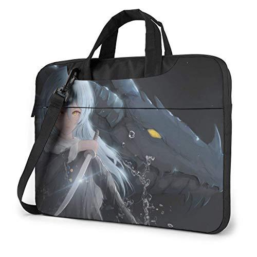 15.6 inch Laptop Tasche Schultertasche Bussiness Messenger Tablet Tasche Laptophülle Anime EIN Schleim
