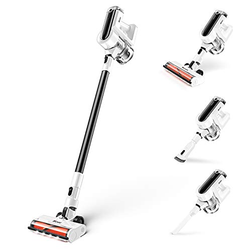 Cordless Vacuum Cleaner, TOCMOC Vacuum Cleaner 300W 23Kpa Strong Suction...