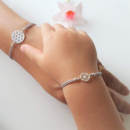 Armbänder Set Lebensblume 925 Silber Geschenk