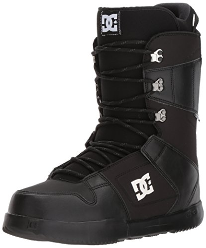 DC Men's Phase Lace Up Snowboard Boots, Black, 9.5
