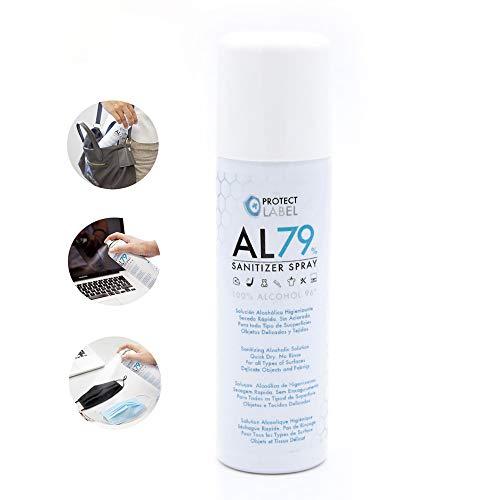 Hidroalcohol en Spray 200ml. Protect Label Higienizante multisuperficies 79% Alcohol