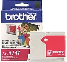 Brother DCP 130, 330C, 350C, FAX 1360, 1860, 1960C, 2480C, 2580C, MFC 230C, 240C, 440CN, 465CN, 665CW, 685CW, 845CW, 885CW, 3360C, 5460CN, 5860CN Magenta Ink Cartridge (400 Yield), Part Number LC51M