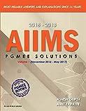AIIMS PGMEE Solutions Volume -1 (November 2018 - May 2017 ): Vol. 1
