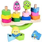 Wooden Stacking Toys with Geometry Shape...