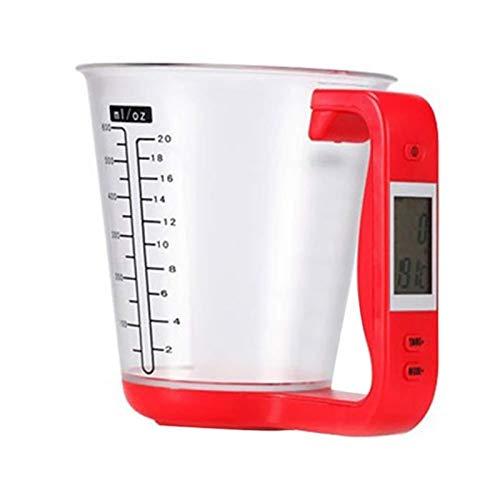 CZXKJ Balanza de Cocina Escala con Pantalla LCD Temperatura de Gran Capacidad de medición CupTool Taza de medición de la Cocina Escala Digital electrónica del cubilete Balanzas de Cocina Peso Digital