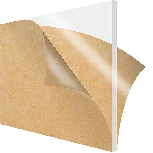 GYZD Bauglas (Polyethylen hoher Dichte) Blatt, Plexiglas Blatt, Bettwäsche Plexiglas, sehr vielseitig, geringes Gewicht und hohe Schlagzähigkeit, Acrylglas 200 x 300 x 8mm,200mm x 300mm x 8mm