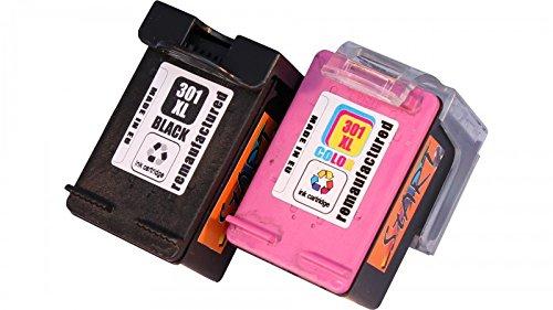 Start - 2 Ersatz Tintenpatronen kompatibel zu HP 301XL HP301XL Schwarz / Farbe für HP DeskJet Serien