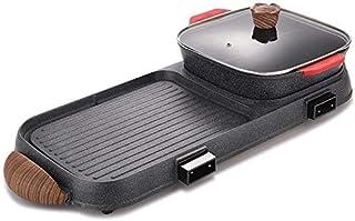 DX Herramienta de jardín BBQ Hot Pot Una Olla se Puede Separar Estufa de Barbacoa Hogar Eléctrico Sin Humo Multifunción Barbacoa de Interior Gran Capacidad (Tamaño: B2)