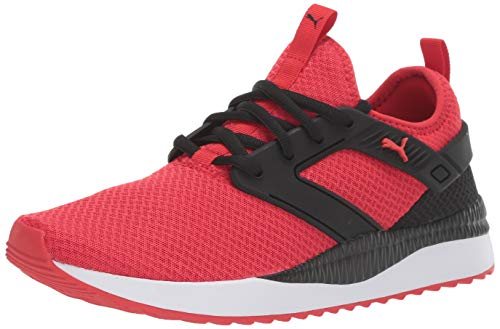 PUMA Pacer Next Excel Sneaker, High Risk red Black White, 11.5 M US