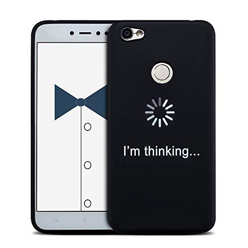 Mosoris Funda Xiaomi Redmi Note 5A Prime, Carcasa Pattern Suave Negro Silicona Matte Parachoques Tapa Caso Delgado Flexibilidad Protectora Shell Cubierta Absorcion de Impactos Trasera Caja Cover